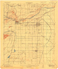 Mesa Arizona Historical topographic map, 1:62500 scale, 15 X 15 Minute, Year 1915