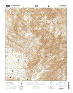 Mine Mountain Arizona Current topographic map, 1:24000 scale, 7.5 X 7.5 Minute, Year 2014 from Arizona Map Store