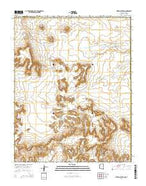 Mitten Buttes Arizona Current topographic map, 1:24000 scale, 7.5 X 7.5 Minute, Year 2014 from Arizona Map Store