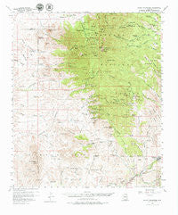 Mount Wrightson Arizona Historical topographic map, 1:62500 scale, 15 X 15 Minute, Year 1958