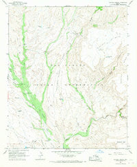 Natural Corral Arizona Historical topographic map, 1:24000 scale, 7.5 X 7.5 Minute, Year 1966