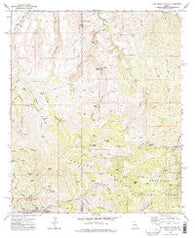 Oak Grove Canyon Arizona Historical topographic map, 1:24000 scale, 7.5 X 7.5 Minute, Year 1972