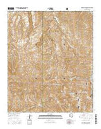 Oak Grove Canyon Arizona Current topographic map, 1:24000 scale, 7.5 X 7.5 Minute, Year 2014 from Arizona Map Store