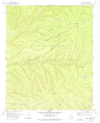 Odart Mtn Arizona Historical topographic map, 1:24000 scale, 7.5 X 7.5 Minute, Year 1978