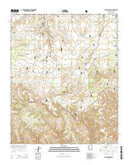 Outlaw Draw Arizona Current topographic map, 1:24000 scale, 7.5 X 7.5 Minute, Year 2014 from Arizona Map Store