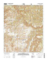 Oxbow Mountain Arizona Current topographic map, 1:24000 scale, 7.5 X 7.5 Minute, Year 2014