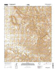 Park Creek Cabins Arizona Current topographic map, 1:24000 scale, 7.5 X 7.5 Minute, Year 2014 from Arizona Maps Store