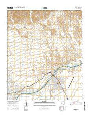 Parker Arizona Current topographic map, 1:24000 scale, 7.5 X 7.5 Minute, Year 2014 from Arizona Maps Store