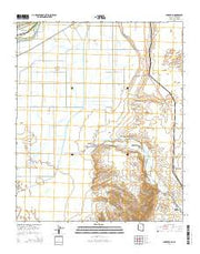 Parker SE Arizona Current topographic map, 1:24000 scale, 7.5 X 7.5 Minute, Year 2014 from Arizona Maps Store