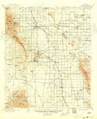 Pearce Arizona Historical topographic map, 1:125000 scale, 30 X 30 Minute, Year 1916