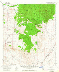 Pedregosa Mountains Arizona Historical topographic map, 1:62500 scale, 15 X 15 Minute, Year 1958