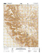 Picacho Butte SE Arizona Current topographic map, 1:24000 scale, 7.5 X 7.5 Minute, Year 2014 from Arizona Map Store