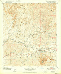 Picketpost Mtn Arizona Historical topographic map, 1:24000 scale, 7.5 X 7.5 Minute, Year 1949