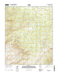 Pine Springs Arizona Current topographic map, 1:24000 scale, 7.5 X 7.5 Minute, Year 2014