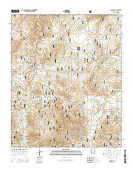 Pinedale Arizona Current topographic map, 1:24000 scale, 7.5 X 7.5 Minute, Year 2014