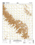 Pinta Playa Arizona Current topographic map, 1:24000 scale, 7.5 X 7.5 Minute, Year 2014 from Arizona Map Store