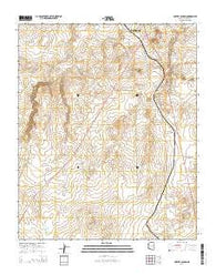 Porter Canyon Arizona Current topographic map, 1:24000 scale, 7.5 X 7.5 Minute, Year 2014