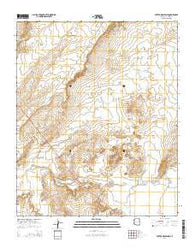 Potter Mesa Tank Arizona Current topographic map, 1:24000 scale, 7.5 X 7.5 Minute, Year 2014