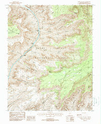 Powell Plateau Arizona Historical topographic map, 1:24000 scale, 7.5 X 7.5 Minute, Year 1988
