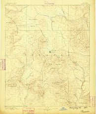 Prescott Arizona Historical topographic map, 1:250000 scale, 1 X 1 Degree, Year 1887