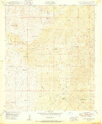 Putnam Wash Arizona Historical topographic map, 1:24000 scale, 7.5 X 7.5 Minute, Year 1950