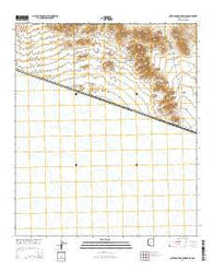 Quitobaquito Springs Arizona Current topographic map, 1:24000 scale, 7.5 X 7.5 Minute, Year 2014