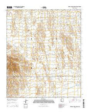 Red Bluff Mountain East Arizona Current topographic map, 1:24000 scale, 7.5 X 7.5 Minute, Year 2014 from Arizona Maps Store