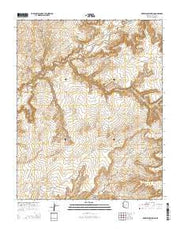 Red Willow Spring Arizona Current topographic map, 1:24000 scale, 7.5 X 7.5 Minute, Year 2014 from Arizona Maps Store