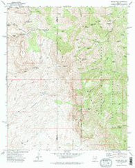 Rhodes Peak Arizona Historical topographic map, 1:24000 scale, 7.5 X 7.5 Minute, Year 1972