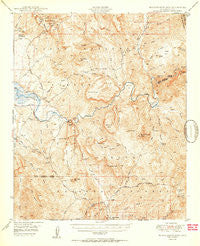 Rockinstraw Mtn Arizona Historical topographic map, 1:62500 scale, 15 X 15 Minute, Year 1950