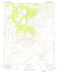 Rotten Bananas Butte Arizona Historical topographic map, 1:24000 scale, 7.5 X 7.5 Minute, Year 1972