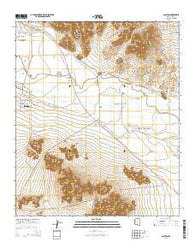 Sacaton Arizona Current topographic map, 1:24000 scale, 7.5 X 7.5 Minute, Year 2014