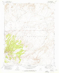 Salina Arizona Historical topographic map, 1:24000 scale, 7.5 X 7.5 Minute, Year 1972
