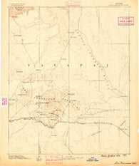 San Francisco Mtns Arizona Historical topographic map, 1:250000 scale, 1 X 1 Degree, Year 1886