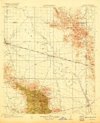 San Simon Arizona Historical topographic map, 1:125000 scale, 30 X 30 Minute, Year 1917