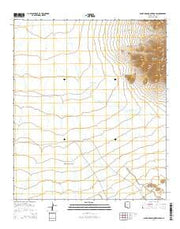 Santa Rosa Mountains SW Arizona Current topographic map, 1:24000 scale, 7.5 X 7.5 Minute, Year 2014 from Arizona Maps Store