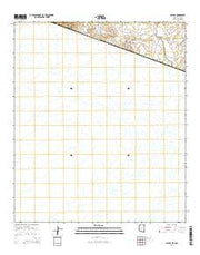 Sasabe Arizona Current topographic map, 1:24000 scale, 7.5 X 7.5 Minute, Year 2014 from Arizona Maps Store
