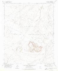 Satan Butte Arizona Historical topographic map, 1:24000 scale, 7.5 X 7.5 Minute, Year 1972