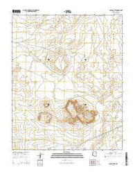 Satan Butte Arizona Current topographic map, 1:24000 scale, 7.5 X 7.5 Minute, Year 2014
