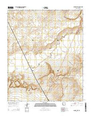 Schnebly Well Arizona Current topographic map, 1:24000 scale, 7.5 X 7.5 Minute, Year 2014 from Arizona Maps Store