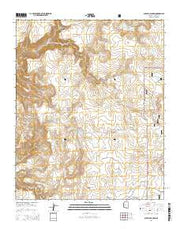 Scratch Canyon Arizona Current topographic map, 1:24000 scale, 7.5 X 7.5 Minute, Year 2014 from Arizona Maps Store