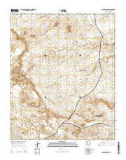 Second Knolls Arizona Current topographic map, 1:24000 scale, 7.5 X 7.5 Minute, Year 2014 from Arizona Maps Store