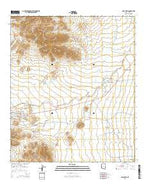Sells East Arizona Current topographic map, 1:24000 scale, 7.5 X 7.5 Minute, Year 2014 from Arizona Map Store