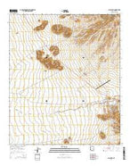 Sells West Arizona Current topographic map, 1:24000 scale, 7.5 X 7.5 Minute, Year 2014 from Arizona Map Store