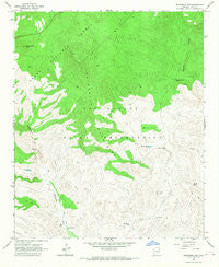 Sevenmile Mts. Arizona Historical topographic map, 1:24000 scale, 7.5 X 7.5 Minute, Year 1966