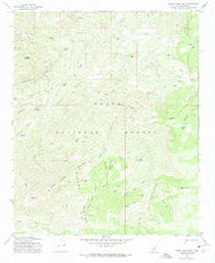 Sheep Basin Mtn. Arizona Historical topographic map, 1:24000 scale, 7.5 X 7.5 Minute, Year 1972