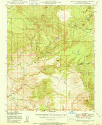 Sheridan Mountain Arizona Historical topographic map, 1:62500 scale, 15 X 15 Minute, Year 1950
