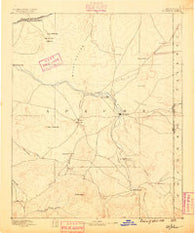 St Johns Arizona Historical topographic map, 1:250000 scale, 1 X 1 Degree, Year 1886