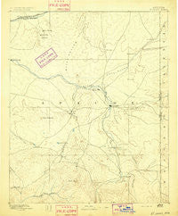 St Johns Arizona Historical topographic map, 1:250000 scale, 1 X 1 Degree, Year 1892