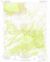 Steamboat Rock Arizona Historical topographic map, 1:24000 scale, 7.5 X 7.5 Minute, Year 1972
